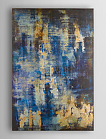 Hand Painted Oil Painting Abstract Blue and Gold Abstract with Stretched Frame 7 Wall Arts®