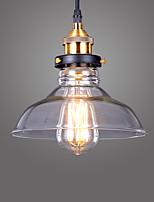 Max 60W Lampe suspendue ,  Vintage Plaqué Fonctionnalité for Style mini MétalSalle de séjour / Chambre à coucher / Salle à manger /