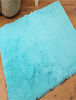 Pure Colored Casual Style Polyester Fiber Material Non-Slip Soft Rectangle Mat W31