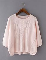 Damen Pullover - Street Schick Polyester Dünn ½ Länge Ärmel
