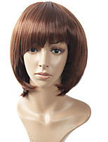 4 Color Avaible Top Quality Short Brown Wavy High Quality Synthetic Wigs