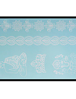 Lovely HENNA Lace Big White Face Sticker 06
