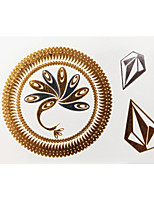 Lovely Waterproof Metal Small Gold Face Sticker W221