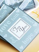 LOVE, Faith and Hope Photo Frame Glass Coaster Wedding Favors(1pcs)