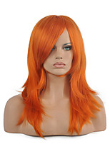 70 Cm Harajuku Anime Colorful Cosplay Wigs Young Long Curly Synthetic Hair Wig Orange Synthetic Wigs