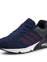 Men's Summer Comfort Tulle Casual Flat Heel Black / Blue / Red Sneaker