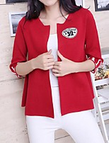 Women's Print Red Cardigan,Street chic Long Sleeve