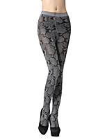 Women's 280D snake skin pattern velvet leggings