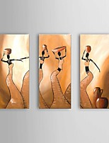 Hand-painted Abstract African Women Oil Painting with Stretched Frame