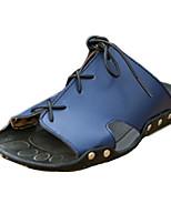 Sapatos Masculinos-Chinelos-Preto / Azul / Marrom-Couro Ecológico-Casual