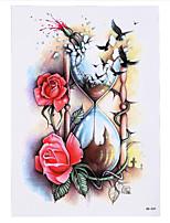 8PCS DIY Body Arm Art Tattoo Women Men Decal Rose Flower Picture Design Temporary Tattoo Sticker Waterproof Decoration