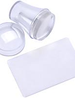 o novo selo de manicure 2 peça em forma de vedação tampa transparente + 3,8 centímetros cabeça raspador de silicone transparente