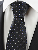 KissTies Men's Bohemian Floral Checked Formal Microfiber Tie Necktie Formal  With Gift Box (5 Colors Available)