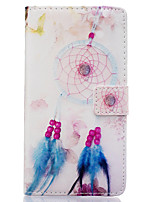 For Huawei Case Wallet / Card Holder / with Stand / Flip Case Full Body Case Dream Catcher Hard PU Leather Huawei
