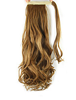 Length Golden Brown Wig Curls Ponytail 60CM Synthetic Body Wave High Temperature Wire Color 27