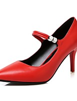 Women's Shoes Stiletto Heel Heels / Basic Pump / Pointed Toe Heels Wedding / Party & Evening / Dress Black / Red / White