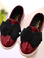 Girls' Shoes Casual Comfort Patent Leather Loafers Black / Burgundy