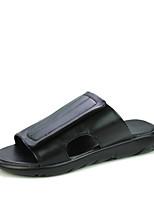 Zapatos de Hombre-Pantuflas / Sin Cordones-Exterior / Casual / Deporte-Cuero de Napa-Negro / Morado / Blanco