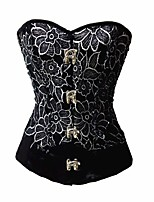 YUIYE® Women Sexy Lingerie Waist Training Corset Bustier Tops Shapewear Black PU Overbust Corset Plus Size S-2XL 4XL