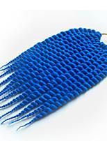 Blau Havanna Twist Braids Haarverlängerungen 12 14 16 18 20 22 24 Kanekalon 12 Strand 80-120g/pack Gramm Haar Borten