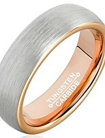 Ring Men's Non Stone Wolfram Steel Wolfram Steel 7 / 8 / 9 / 10 / 11 / 12 Gray