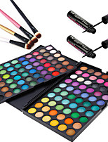 3in1 Eye Makeup Set(120 Colors Eyeshadow Cosmetic Palette+4PCS Eyeshadow Brush+2PCS Confuse&Waterproof Liquid Eyeliner)