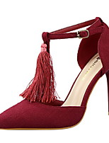 Women's Tassels Heel Heels Pointed Toe Heels Wedding Shoes