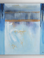 Hand Painted Oil Painting Abstract Blue Marine with Stretched Frame 7 Wall Arts®