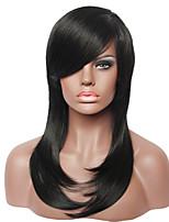 capless mode droite vraies femmes noires de cheveux humains perruque pour dames