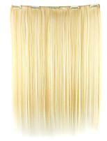 cabelos lisos extensão do cabelo sintético peruca de ouro branco 52 centímetros de comprimento fio de alta temperatura