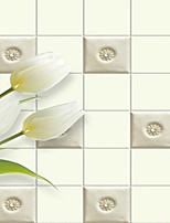 JAMMORY Floral Wallpaper Classical Wall Covering,Canvas Warm Simple Lily