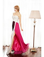 Formal Evening Dress A-line Sweetheart Floor-length Chiffon with Criss Cross