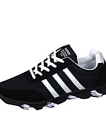 Men's Shoes Athletic Fabric Fashion Sneakers Black / Blue / White