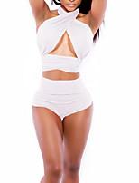 Summer Retro Totems Female's Swimwear White
