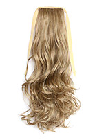 Brown Length 50CM Synthetic Curly Hair Wig Horsetail Melange Belt Type(Color 10/86)
