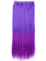 Ombre Sintetico Perruque Straight Natural Hair Hairpiece Costume Synthetic Hair Clip In Hair Extensions Pad