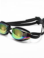 Unisex Swimming Goggles Black Adjustable Size / Anti-slip Strap PC PU