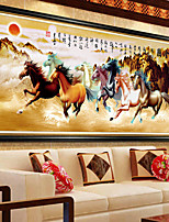 DIY 5D Diamonds Embroidery Eight Horses Win Instant Success Cross Stitch Diamond Mosaic 100*45CM