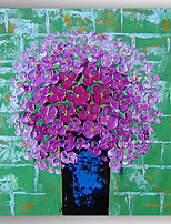 Oil Painting Flowers in Vase by Knife Hand Painted Canvas with Stretched Framed Ready to Hang