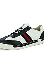Men's Shoes Fabric Office & Career / Casual Fashion Sneakers Office & Career / Casual Lace-up Black / Red / White