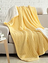 Multicolor Solid Knitted Blanket Bamboo Fiber  59