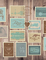 JAMMORY Art Deco Wallpaper Retro Wall Covering,Canvas Large Mural Wooden Stamp