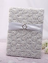 Rose Tri-Fold Page Large Guestbook