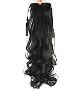 Length Black Wig Ponytail 55CM Synthetic Pearvolume High Temperature Wire Color 2