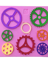 Large Gears Type Candy Fondant Cake Molds  For The Kitchen Baking Molds