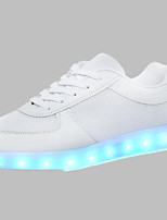 Men's Shoes Outdoor / Athletic / Casual PU / Tulle Fashion Sneakers Black / WhiteLED shoes