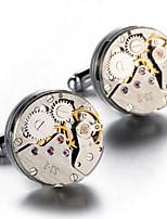 Men's Luxury Watch Movement Design Alloy French Shirt Cufflinks (1-Pair)