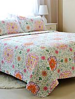 3PC Quilt Sets Full Cotton Euro Floral Pattern 90