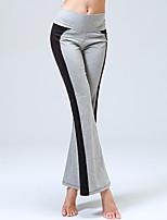 Yoga Pants Calças Respirável / Redutor de Suor Natural Stretchy Wear Sports Cinzento / azul safira Mulheres OutrosIoga / Fitness /