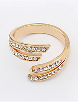 New Super Hot Shiny Slim Open Rhinestone Ring For Women Personalized Fashion Jewelry